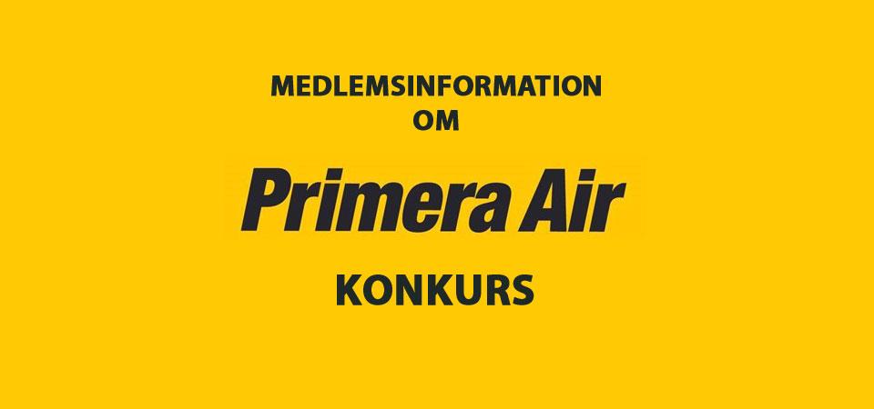 RING INDEN DU SIGER JA TIL AT FLYVE! (Primera Air)